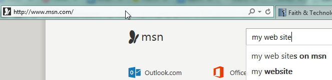 MSN IE Search Box