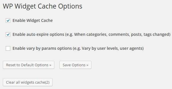 WP-Widget-Cache-Options
