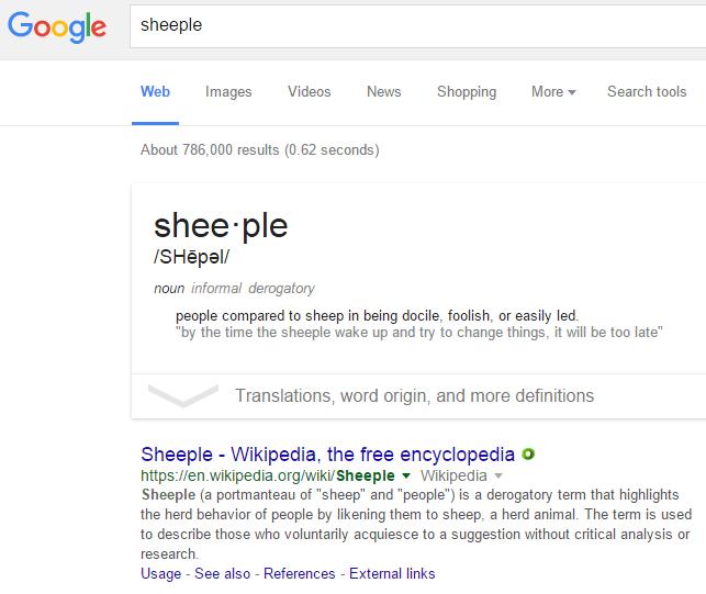 Define Sheeple
