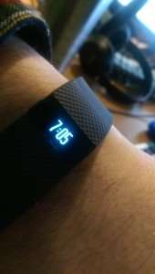 Fitbit Charge HR Time Display