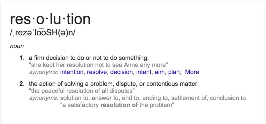 Define Resolution