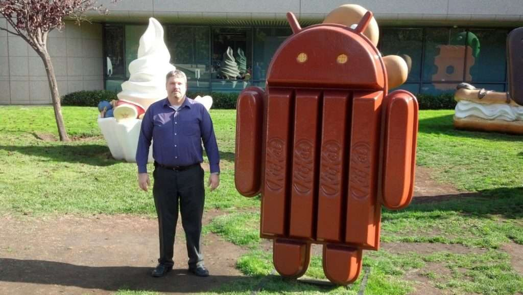 Me and KitKat at the Google Campus