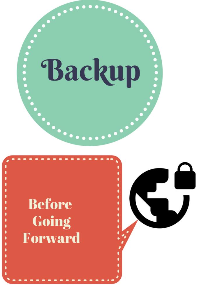Backup Before Going Forward